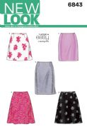 6843 New Look Pattern: Misses' Skirts